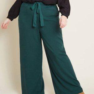 Modcloth The Savannah Pant Wide Leg Hunter Green